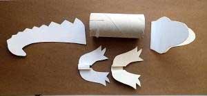 Крокодилы из втулки от туалетной бумаги
