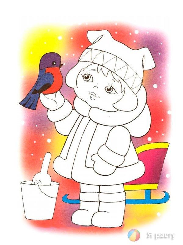 Аппликация девочка в зимней одежде