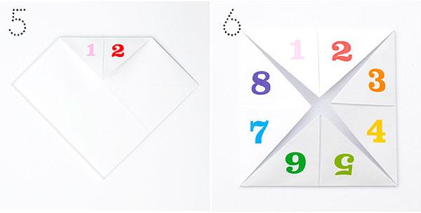 Гадалка из бумаги (оригами )