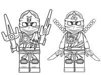Герои Ниндзяго. Раскраски для мальчиков
