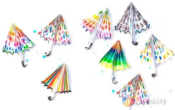 аппликация зонтики