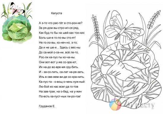 раскраски со стихами