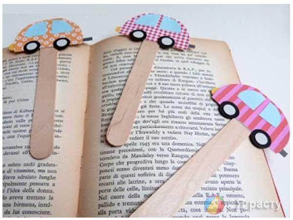 Закладки для книг из палочек от мороженого