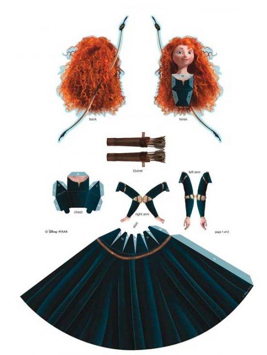 Куклы 3D из бумаги. Диснеевские принцессы