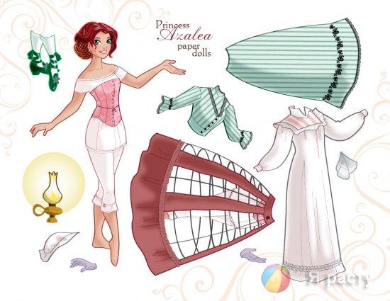Бумажная кукла принцесса Азалия