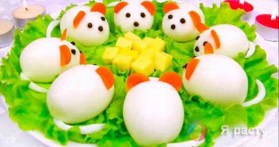 """Фаршированные яйца """"Мышата"""""""