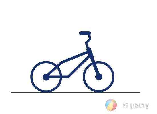 рисуем велосипед. рама
