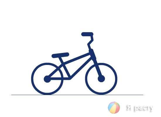 рисуем велосипед. седло