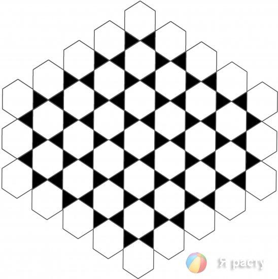 Шестигранки: шашки Шафрана