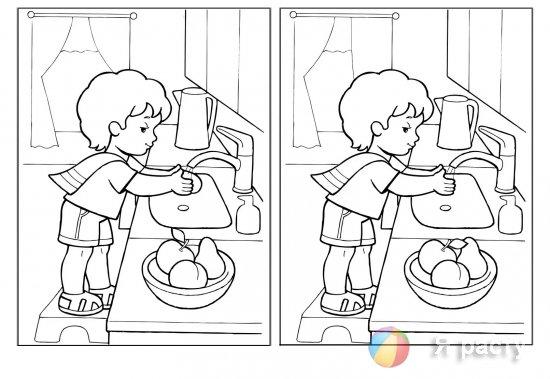 Найдите по 5 отличий в каждой паре картино