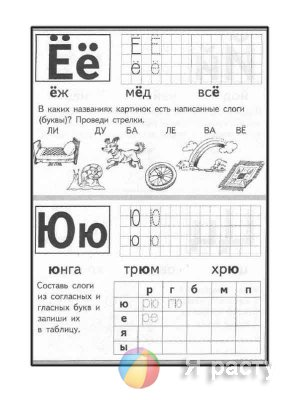 Буквы и слоги. Прописи по клеткам -  печатные буквы.